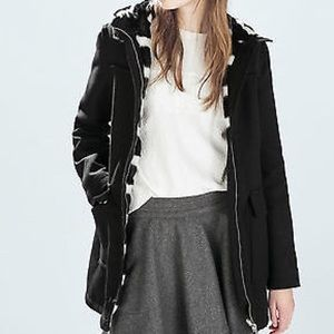 Zara fur lined winter coat